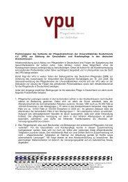 Positionspapier zur Stärkung der Gesundheits- und ... - VPU