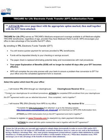 Instructions for Completing the Authorization Agreement for EFT - WPS