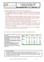 Télécharger le bilan 2011 Hôtellerie de plein air - Comité ...