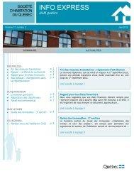 Info Express - juin 2012, vol. 17, numéro 2 - Société d'habitation du ...