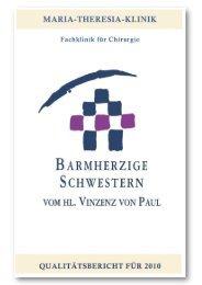Qualitätsbericht 2010 - Maria-Theresia-Klinik