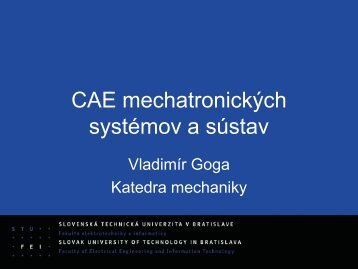 Prednáška č. 5 - Geometria hmoty a dynamika telesa
