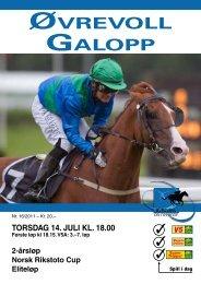 Program 14 juli_komplett.pdf - Øvrevoll Galoppbane