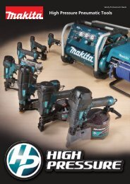 High Pressure Pneumatic Tools - Makita