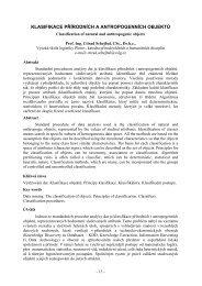 klasifikace přírodních a antropogenních objektů - Vysoká škola ...