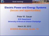 Peter Sauer, Professor, Electrical & Computer Engineering ... - ecedha