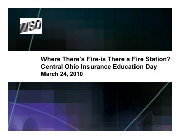 Where There's Fire-is There a Fire Station? - Ohio Insurance Institute