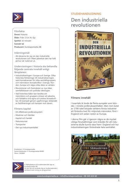 Den industriella revolutionen - SLI.se
