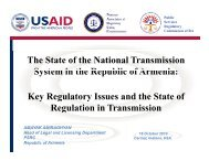Key Regulatory issues and the State of Regulation in Transmission ...