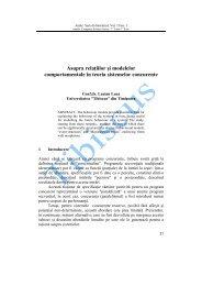 Asupra rela iilor i modelelor comportamentale în teoria sistemelor ...