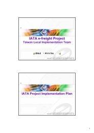 IATA e-freight Project
