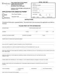 Application for Asbestos Permit - Iowa Workforce Development