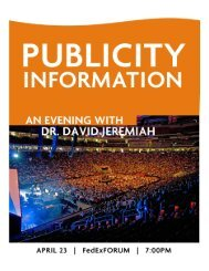 Midsouth Regional Rally An Evening With Dr. David Jeremiah