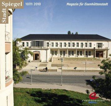 Stadtspiegel 10 11 2010 - der Stadt Eisenhüttenstadt