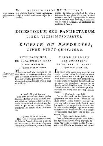 DIGESTE OU PANBECTES, - Histoire du droit