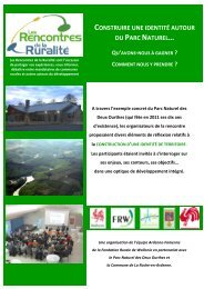 Le compte rendu - Fondation rurale de Wallonie