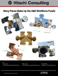 Many Pieces Make Up the A&D Workforce Puzzle - Hitachi Consulting