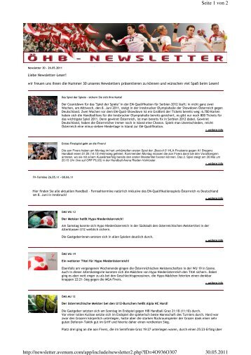 Newsletter2.php? - UHC Eggenburg