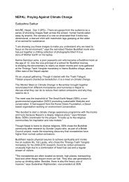 NEPAL: Praying Against Climate Change Sudeshna Sarkar - Ecohimal