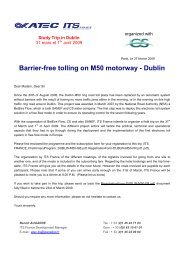 Barrier-free tolling on M50 motorway - Dublin - Atec/ITS France