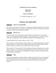 Land Use Designations - Columbia River Gorge Commission