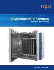 Solar Panel Testing Chambers PDF Brochure - Espec