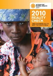 TIME IS RUNNING OUT TO MEET THE HEALTH MDGs - Action for ...