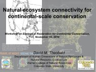 Natural ecosystem connectivity for continental-scale conservation