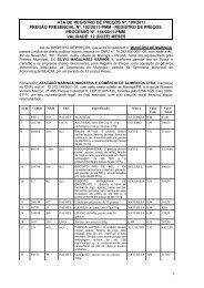 Ata de Registro de Preços nº. 100/11 - Maringá - Estado do Paraná