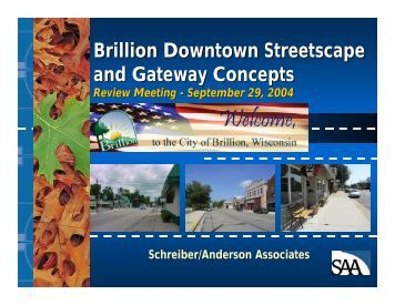 Review Downtown Streetscape Design Concepts - City of Brillion