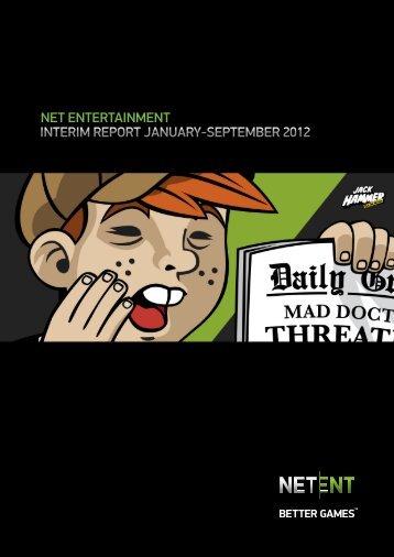 Interim report January - September 2012 - Net Entertainment