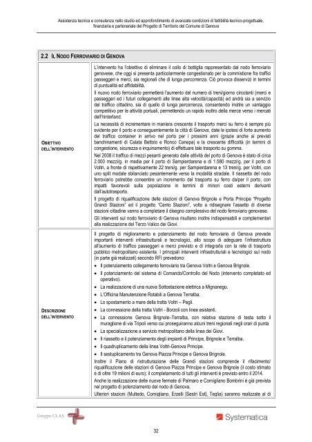Nodo ferroviario - Urban Center - Comune di Genova