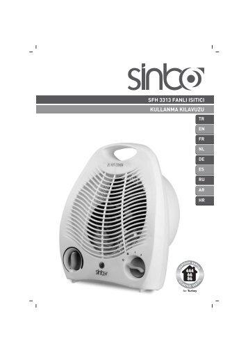 sfh 3313 fanlı ısıtıcı kullanma kılavuzu - Sinbo