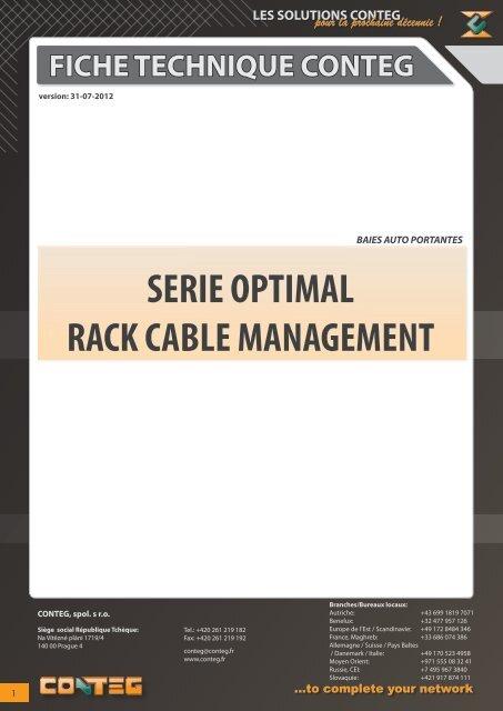 fiche technique conteg serie optimal rack cable management