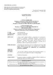 Circulaire du 2 septembre 2004 - Justice / Textes et réformes