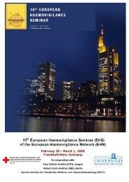 EHS Programme 2008 Frankfurt - International Haemovigilance ...