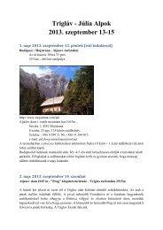 Trigláv - Júlia Alpok 2013. szeptember 13-15