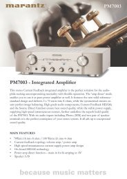 PM7003 - Integrated Amplifier PM7003 - Reference Audio