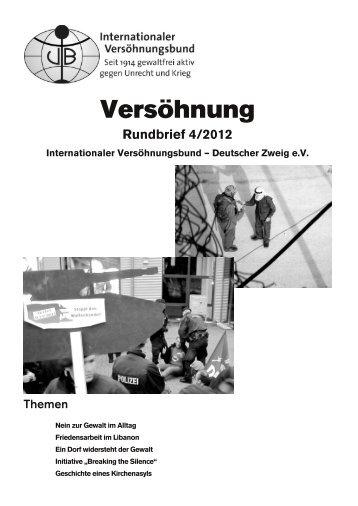 Rundbrief 4/2012 - Internationaler Versöhnungsbund