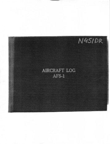 aircraft log 1 - Steel Aviation