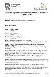 Referat fra Regionsbestyrelsesmøde den 14. juni 2012