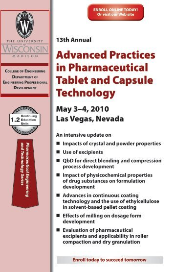 Advanced Practices in Pharmaceutical Tablet and Capsule ...
