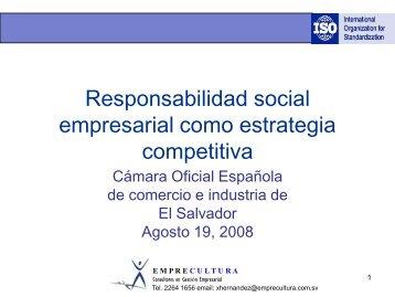 Conceptos Básicos de la Norma Internacional ISO 26000 para la ...