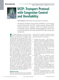 DCCP: Transport Protocol with Congestion Control and Unreliability