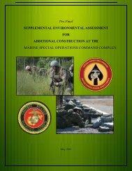 Pre-Final Supplemental Environmental Assessment for Additional ...