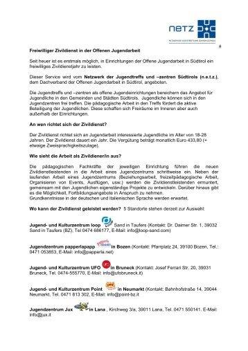 Merkblatt Zivildienst OJA 2010 - N.e.t.z.