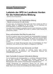 KITA-LEITZIELE SPD LK VERDEN - SPD-Ortsverein Achim