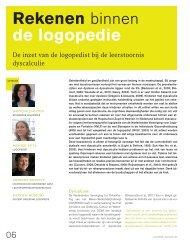 Rekenen - Logopedie.nl