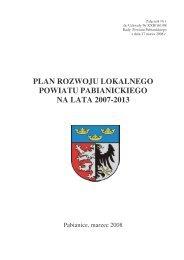 Plan rozwoju lokalnego powiatu pabianickiego na lata 2007-2013
