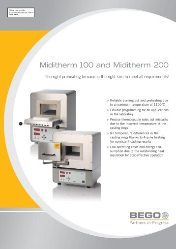 Miditherm 100 and Miditherm 200 - Bego Canada